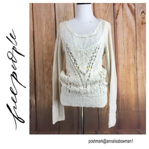 💸Free People knit pullover size M